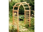 Cedar Arched Arbor with Square Posts (66 in.)