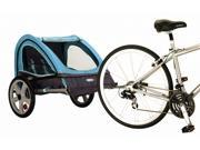 Take 2 Double Bicycle Trailer in Teal and Gray