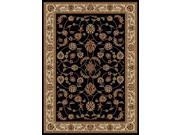 Como Soft Durable Rug (9.10 ft. x 12.10 ft. in Black)