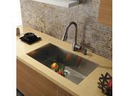 30 in. Undermount Stainless Steel Single Bowl Kitchen Sink