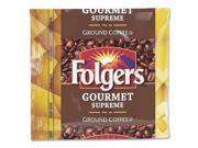 Folgers Foldgers Gourmet Supreme, 1.75 oz., 42/Pack, Dark Brown
