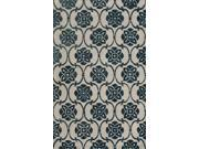 Amber Area Rug In Beige-Blue - 8 ft. x 5 ft.