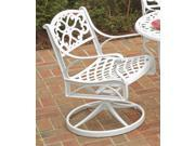 Swivel Chair in White