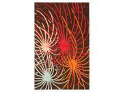 Rectangular Wool Multicolor Rug (8 ft. x 5 ft.)