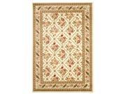 Traditional Rectangular Rug in Ivory (7 ft. 6 in. x 5 ft. 3 in.)