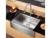 33 in. Farmhouse Single Bowl Stainless Steel Kitchen Sink