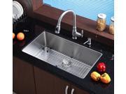 32 in. Undermount Single Bowl Stainless Steel Kitchen Sink