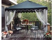 10-Foot Square Gazebo Canopy with Screens and Pole Skirts