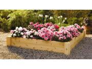 Square Raised Bed Outdoor Planter in Solid Cedar (4 ft. x 4 ft.)