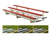 Powder Coated Bleacher w 4 Rows (40 Seats/Red)