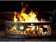 Campfire Fire Ring - Dog N' Pheasants (48 in. Dia.)