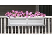 Fairfield White 4 Ft Window Planter Box w Drainage System