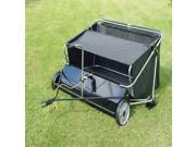 Deluxe Trailing Lawn Sweeper in Black