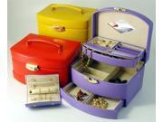Leather Large Auto Open Jewel Box (Purple)