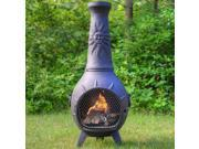 Outdoor Chimenea Fireplace - Sun in Charcoal Finish