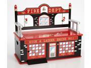 Firefighter Toy Box Bench