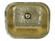 Decorative Prep Rectangular Undermount Sink (Hammered Brass)