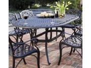 Outdoor Dining Table in Black (Rust Brown)