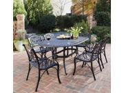 7-Pc Oval Dining Set (Rust Brown)