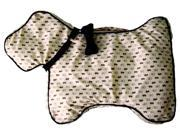Dog-Shaped Padded Sleeping Mat w Attached Play Bone