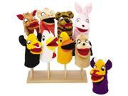 Hand Puppet Stand In Solid Wood