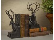 Stag Bookends in Bronze - Set of 2