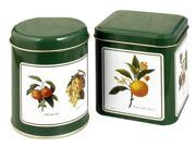 Decorated Spice Tins Square & Round Set