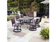 Stone Harbor 7PC Dining Set with Newport Swivel Chairs