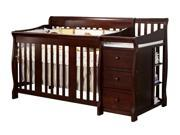 4 in 1 Fixed Side Convertible Crib Changer in Espresso Finish