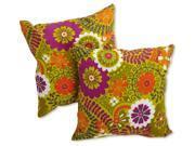 Print Outdoor Throw Pillow - Set of 2 (Luxury Citron)