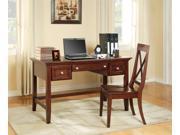 Oslo Writing Desk Set w X-Back Chair in Cherry