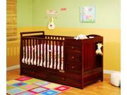 AFG Athena Daphne 2-in-1 Crib in Cherry