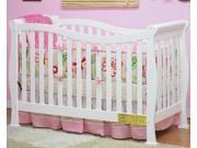 Athena Nadia 3 in 1 Crib w 53 in. Mattress in White