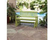 Bali Hai Outdoor Glider Bench Limeade Finish
