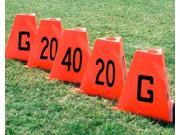 Flag Football Sideline Markers with Wind Resistant Shape