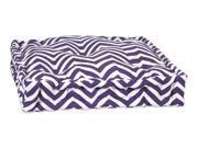 Chevron Floor Cushion in Purple