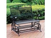 Iron Outdoor Double Patio Glider Chair