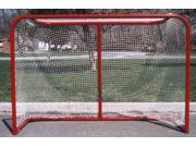 Folding Heavy Duty Hockey Goal in Red & White
