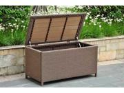 Wicker Resin/Aluminum Patio Storage Trunk