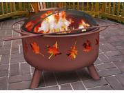 Tree Leaves Fire Pit in Georgia Clay