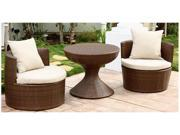 Palermo Outdoor Brown Wicker 3-Pc Chair Set