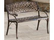 Outdoor Bench in Copper