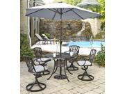 5-Pc UV Resistant Patio Dining Set with Tilt Mechanism Umbrella