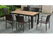 7 - Pc Patio Set in Antique Brown Finish