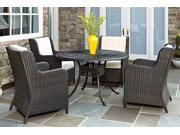 5-Pc Aluminum Patio Dining Set in Charcoal Finish