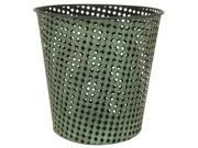 Wrought Iron Perforated Round Waste Basket