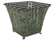Wrought Iron Perforated Square Waste Basket