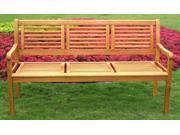 Balau Bar Harbor 3-Seater Park Bench