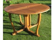 Balau Outdoor 51 in. Gate Leg Patio Table