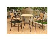 Outdoor Wicker Bar Height Bistro Set